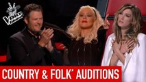 Amazing Country & Folk 'Blind Auditions' in The Voice