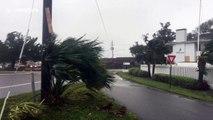 """Crazy"" winds lash Wilmington, North Carolina"