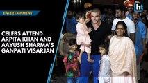 Celebs attend Arpita Khan and Aayush Sharma's Ganpati Visarjan