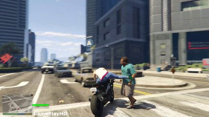 GTA 5 Funny Bike Kick Compilation #10 (Gta V Funny Moments)