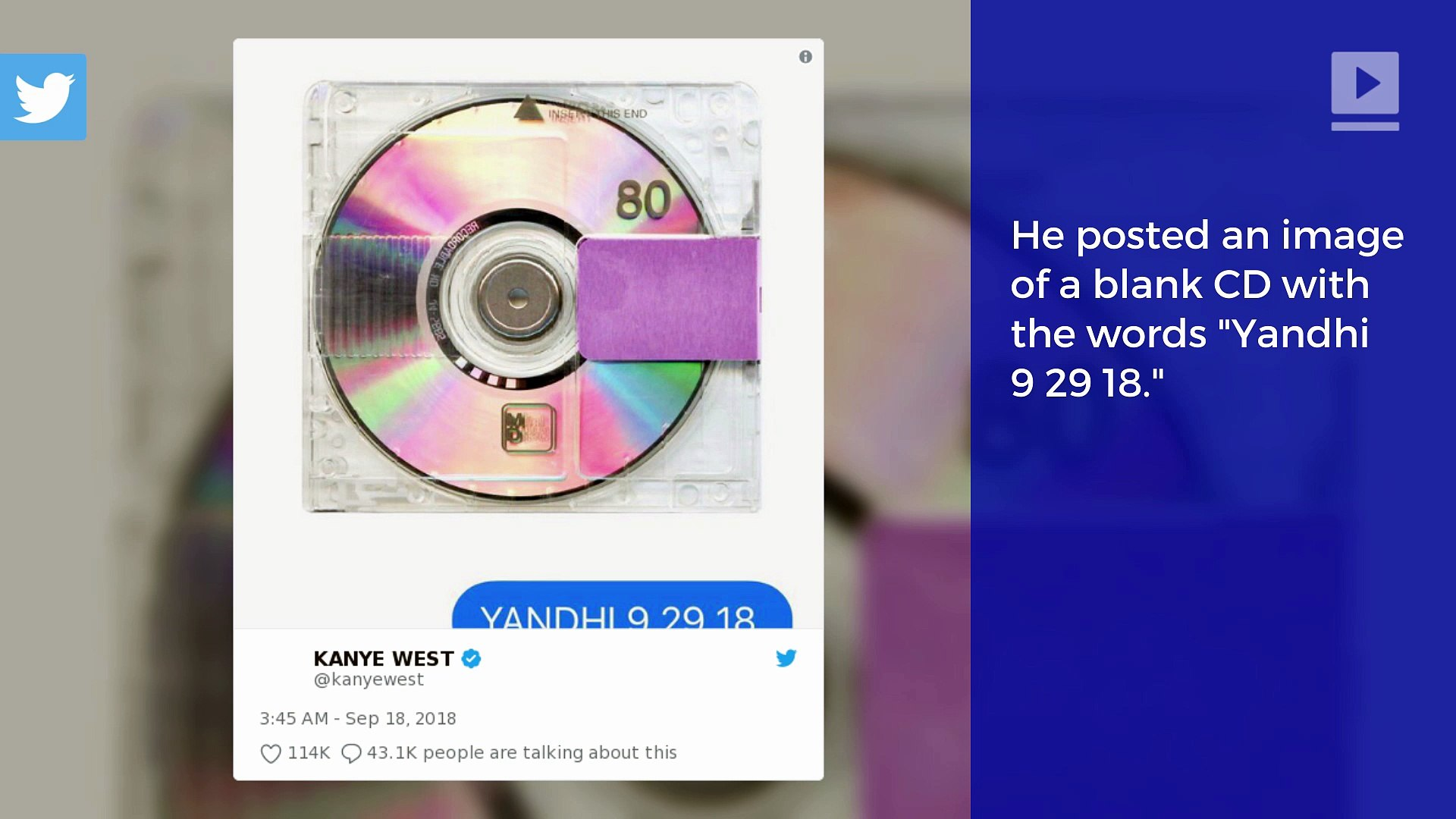 Kanye West Hints at Release Date for 'Yandhi'