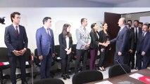 Bakan Soylu, İstanbul Valiliği İl Göç İdaresi Müdürlüğü'nde değerlendirme toplantısına katıldı - İSTANBUL