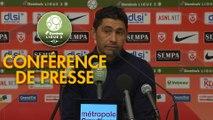 Conférence de presse AS Nancy Lorraine - Havre AC (0-1) : Didier THOLOT (ASNL) - Oswald TANCHOT (HAC) - 2018/2019