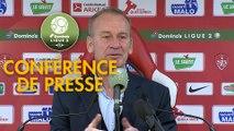 Conférence de presse Stade Brestois 29 - Gazélec FC Ajaccio (4-1) : Jean-Marc FURLAN (BREST) - Albert CARTIER (GFCA) - 2018/2019
