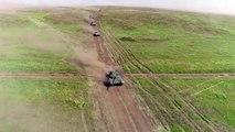 Russia tanks and motorised rifle units participate in Vostok-2018 drills