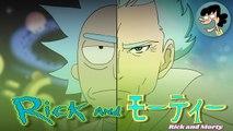 Rick & Morty vue comme un anime
