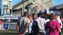 L'AJA  panaches bleu blanc rouge pour le centenaire du stade Abbé-Deschamps