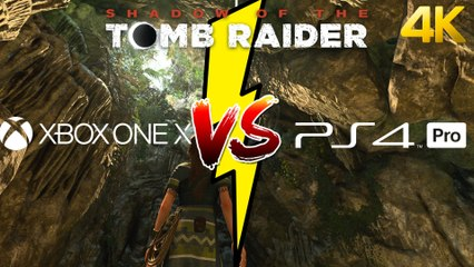 Extrait / Gameplay - Shadow of the Tomb Raider - Comparatif Graphique 4K PS4 Pro VS Xbox One X