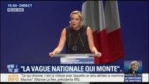 """Élections européennes: Marine Le Pen veut finir """"en tête"""""""