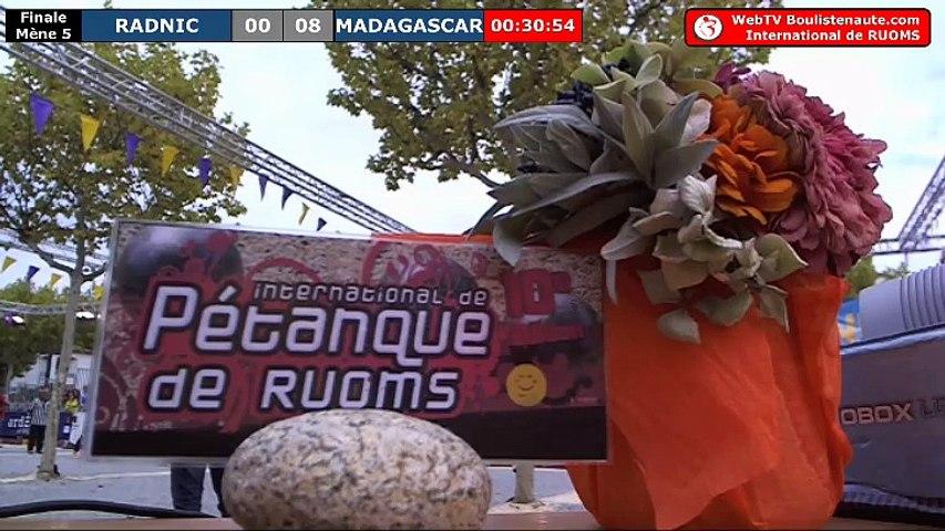 International à pétanque de Ruoms 2018 : la finale Madagascar VS Radnic