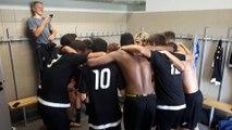 U19: Coupe Gambardella:C'est de la folie dans les vestaires après la  victoire 4 à 1.