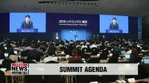 2018 Inter-Korean Summit Pyeongyang - agenda press briefing