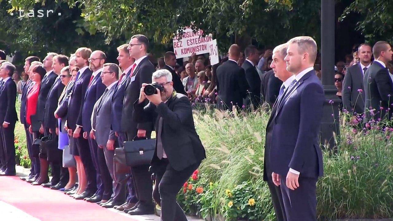 KOŠICE: Slávnostný uvítací ceremoniál spoločného rokovania členov vlád Slovenskej republiky a Českej republiky