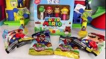Nintendo SUPER MARIO Candy Fans & Pez Dispensers with Yoshi, Squishy & Princess Peach