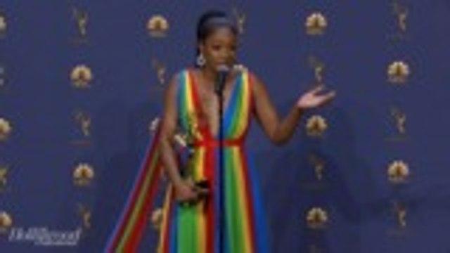 Tiffany Haddish Celebrates 'SNL' Emmy Win   Emmys 2018