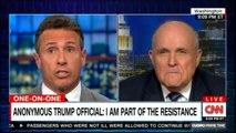 Rudy Giuliani on anonymous Donald Trump official: I am part of the resistance. #DonaldTrump #MuellerProbe #Giuliani #CNN