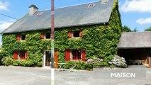 CORREZE. Laroche pres Feyt. Jolie maison en pierre avec 4 chambres, superbe terrasse couverte, cabane en bois, 2 garages et jardin tranquille. Emplace
