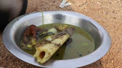 Leg leg leg !!! Unseen Leg Soup Prepared by my Daddy Arumugam - Village food factory