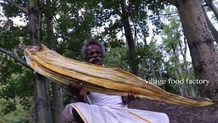 New!!! 6 Feet DRY FISH Fried Rice Prepared by my Daddy Arumugam - Village food factory