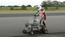 World speed records for motorised toilet, shed and shopping trolley set in Yorkshire