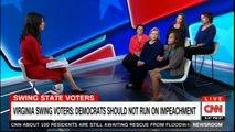 Ana Cabrera & Virginia swing voters: Democrats should not run on impeachment. #@AnaCabrera #News #CNN #DonaldTrump #Virginia