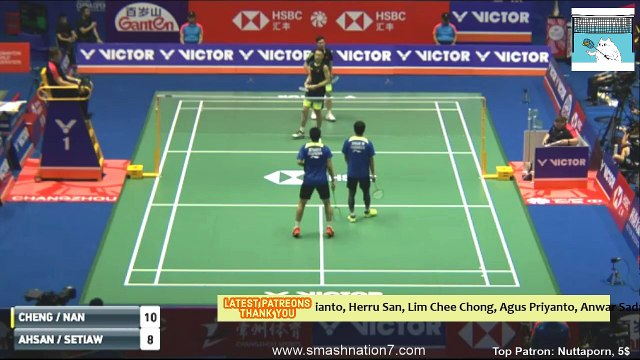 LIU Cheng/ ZHANG Nan vs Mohammad AHSAN/ Hendra SETIAWAN - MD  R32