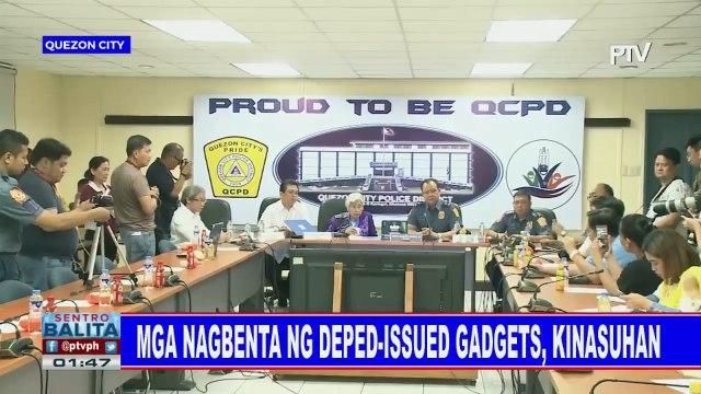 Mga nagbenta ng DepEd-issued gadgets, kinasuhan