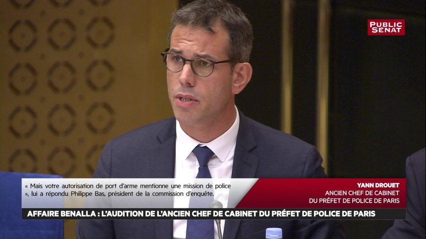 Yann Drouet affirme que la demande d'autorisation de port d'arme pour M. Benalla a été faite par «courriel»