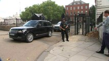 PM Theresa May departs Downing Street to travel to Salzburg