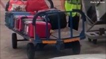 Ce bagagiste qui vole dans une valise pensait que personne ne le verrait