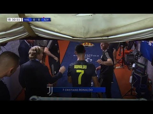 Ronaldo Red Card - Valencia vs Juventus - UCL 19/09/18