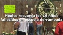 México recuerda los 19 niños fallecidos en escuela derrumbada