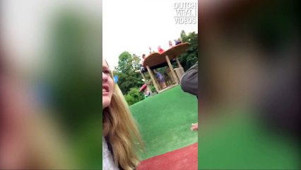 Air attack at the playground
