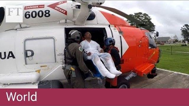 US Coast Guard rescues hurricane victims