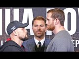 SERGEY KUZMIN vs DAVID PRICE FACE OFF | Joshua vs Povetkin Undercard