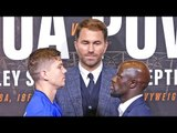 LUKE CAMPBELL vs YVAN MENDY FACE OFF   Joshua vs Povetkin Undercard
