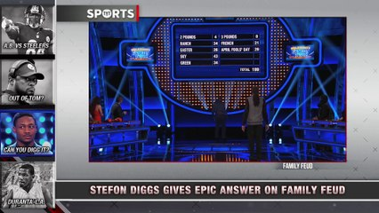 Stefan Diggs Gives EPIC Family Feud Answer - video dailymotion