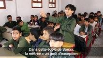 """Des écoliers du Yémen rêvent de """"reconstruire"""" leur pays"""