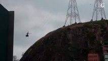 Polícia Militar usa helicóptero durante operação em Jesus de Nazareth