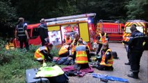 Simulation d'accident avec les sapeurs-pompiers