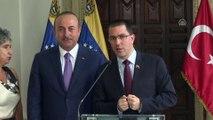 Dışişleri Bakanı Mevlüt Çavuşoğlu, Venezuela Dışişleri Bakanı Jorge Arreaza ile ortak basın toplantısı düzenledi(1) - VENEZUELA
