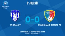 J08 : JA Drancy - Marignane-Gignac FC (0-0), le résumé