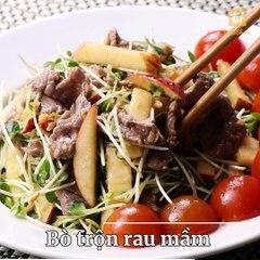 'Bò trộn rau mầm' vừa detox, vừa ngon miệng, ăn hoài không sợ tăng cân, ăn tới đâu mát ruột tới đó