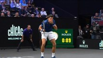 Djokovic drills Federer in Laver Cup doubles