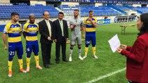 Petit message en Chinois des joueurs du FC Sochaux