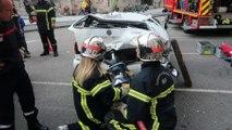 Exercice de désincarcération des sapeurs-pompiers de Remiremont