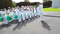 Cérémonies à Thiaucourt : l'hymne américain par l'US Navy