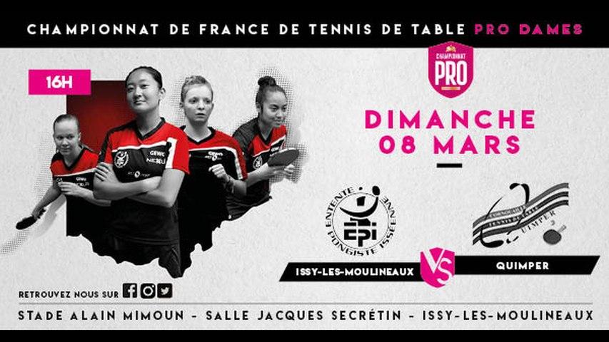 LIVE PRO dames - J7 : Issy-les-Moulineaux - Quimper