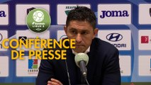 Conférence de presse Havre AC - ESTAC Troyes (1-1) : Oswald TANCHOT (HAC) - Rui ALMEIDA (ESTAC) - 2018/2019