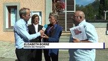 Hautes-Alpes: A 51, train, liaison avec l'Italie: entretien avec la ministre des transports